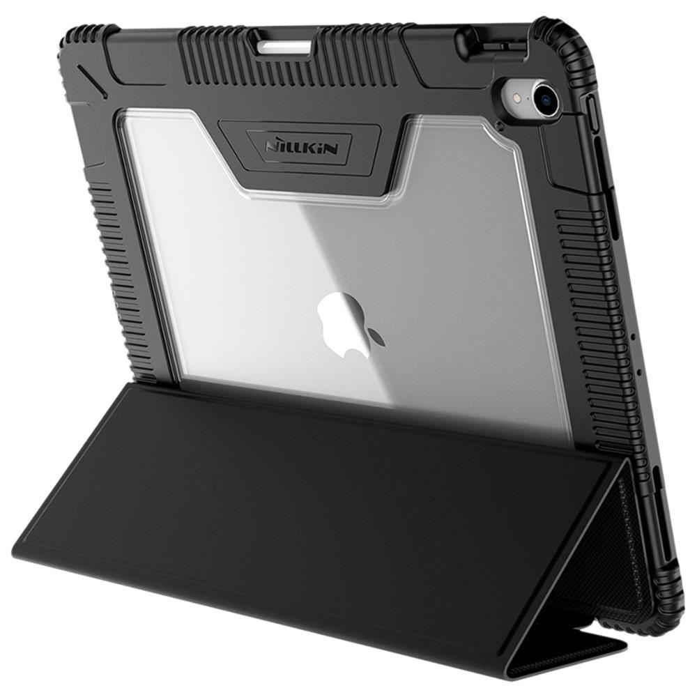 Dành Cho iPad Pro 12.9 Inch 2018 Apple Trong Suốt Nillkin Kinh Doanh Từ Đen Gập Đứng Ốp Lưng Da Bao Đánh Thức Giấc Ngủ rõ Ràng