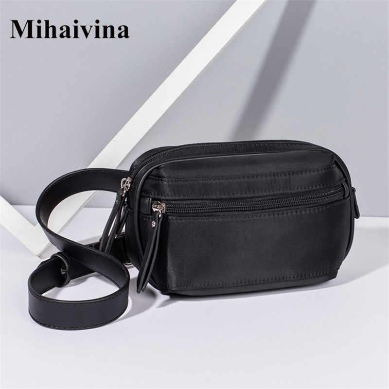 Mihaivin Nylon taille sac femmes hommes Fanny Pack ceinture sac pochette téléphone sacs voyage taille Pack course haute qualité Bum sac Sport.