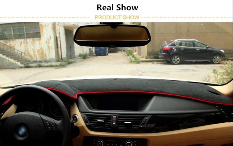 Car Sun Shade and Dustproof Auto Dashboard Mat Cover for GEELY EC72018 EC8 King Kong SX7 GX7 SC7 GC7 eagle