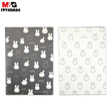 M&G Miffy Rubber-jacketed notebook. (Random Colors)B5/72 page Notebook for students. Soft copy FPY4RM84