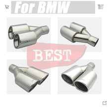 For BMW 5 series 6 series X1 X3 X4 Car Stainless Steel Car Muffler Exhaust Tail Throat Liner pipe car shape exhaust tail pipe mu bannis genuine leather steering wheel cover for skoda octavia superb 2012 fabia skoda octavia a 5 a5 2012 2013 yeti