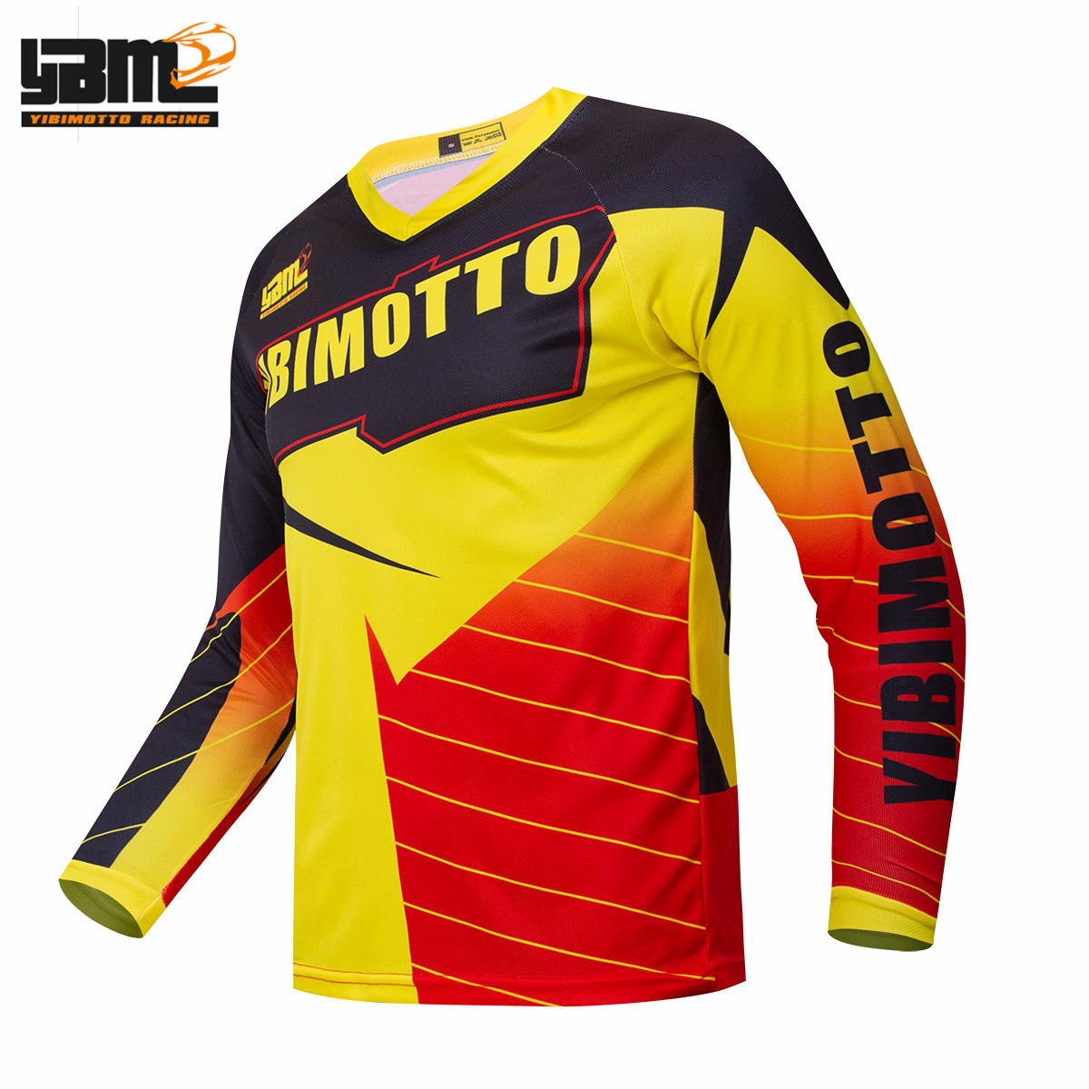 Downhill Jerseys Cycling-Clothes Shirt Bike Motorcycle Crssmax Racing Yellow DH MTB Off-Road