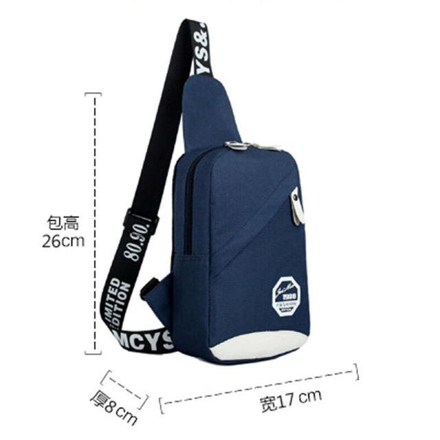 5 Colors Unisex Chest Bag Men Women Waterproof Handbag Zipper Durable Shoulder Casual Fashion Travel Sports Bag 1