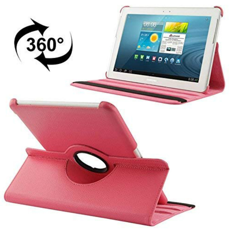Rotating Stand Case for Samsung Tab 2 <font><b>10.1</b></font> GT P5100 P5110 P5113 Tablet <font><b>360</b></font> Degree Pu Leather Cover Flip Folio Magnet Awake Sleep image