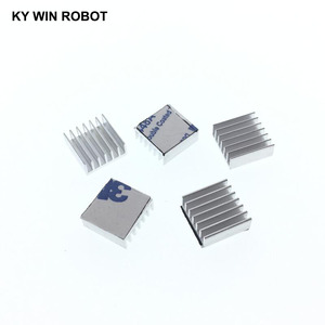 5Pcs Mini Adhesive Aluminum Radiator Heatsink Heat Sink 14x14x6mm Cooler For 3D Printer Stepper Motor Driver VGA RAM LED IC(China)