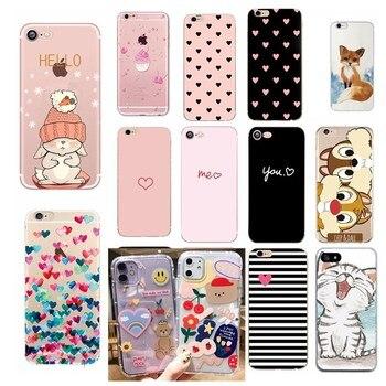 Funda con estampado de corazón para Iphone 6 S 6 S, accesorios para teléfono, pareja de fundas para Iphone 8 Plus Iphone5 5S SE X XS 7 8 Plus