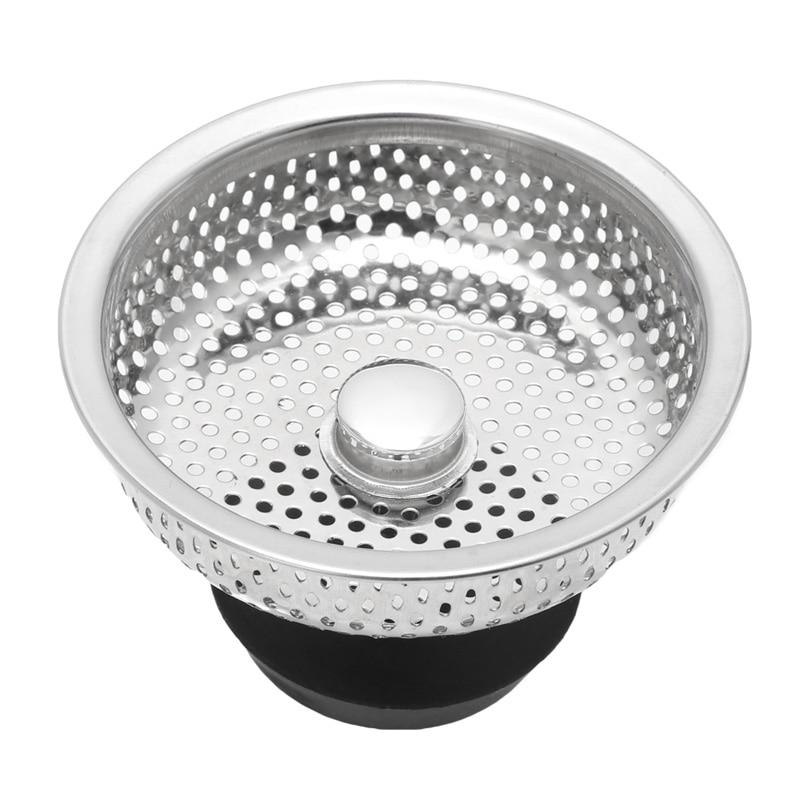 Stainless Steel Kitchen Sink Strainer Stopper Waste Plug Sink Filter Bathroom Hair Catcher Drains Strainer