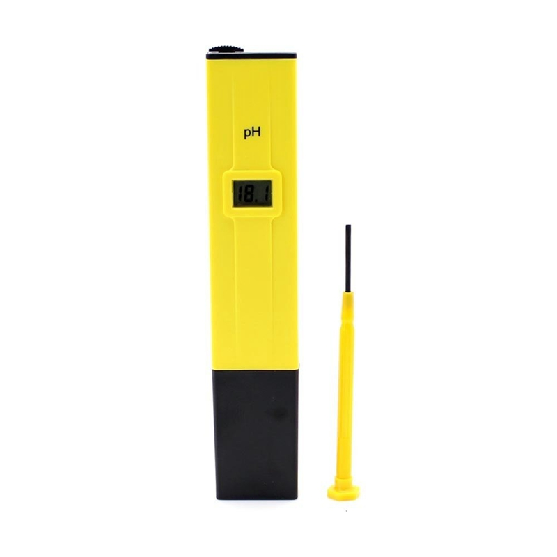 Yellow With Black Ph Meter Tester Screwdriver Water LCD Monitor Pen Aquarium|PH Meters| |  - title=