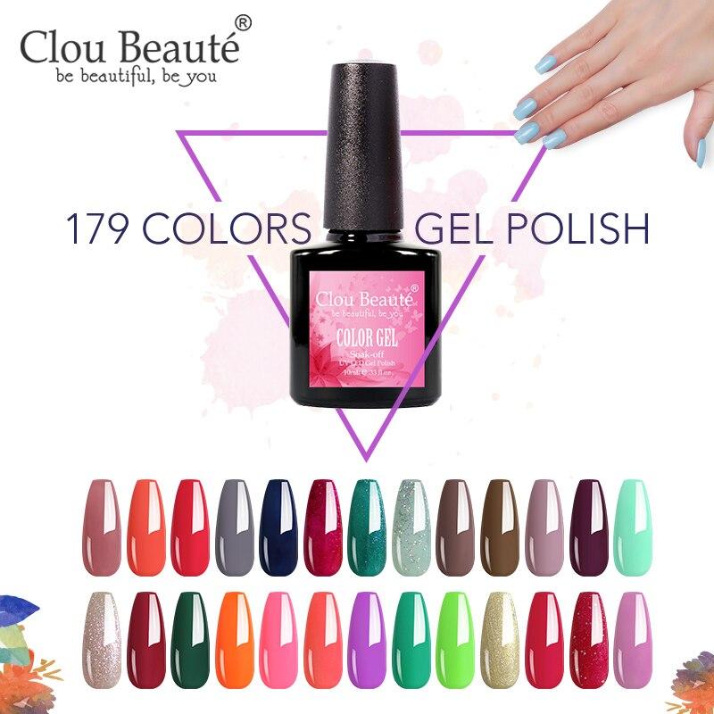 Clou Beaute 10 мл 179 Цветной Гель-лак для ногтей распродажа УФ светодиодный Полупостоянный лак для ногтей гибридный 15 мл Лак