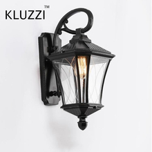 European style Aluminium outdoor LED wall light quality waterproof porch light IP65 classic exterior outside antique wall Light