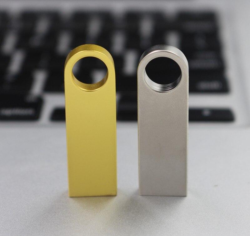 New Usb Flash Drive 128GB 64GB 32GB 16GB 8GB Pen Drive Pendrive Waterproof Metal Silver U Disk Memoria Cel Usb Stick Gif