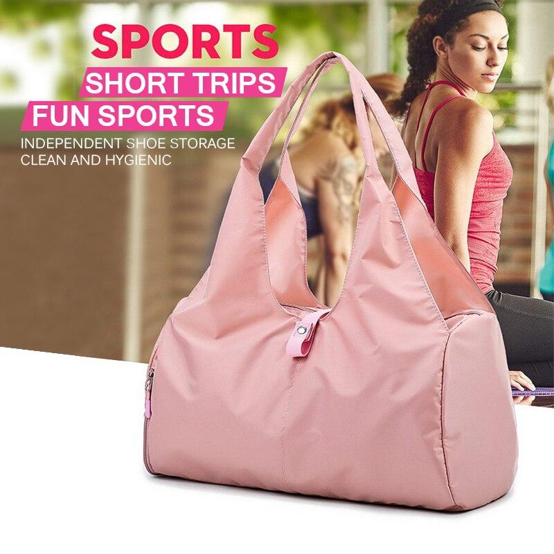 Фитнес сумка для спорта, зала и йоги Для женщин Дорожная сумка для покупок складные сумки Водонепроницаемый отдых плавательный Чехлы аксессуары|Чехлы для спортивных сумок|   | АлиЭкспресс