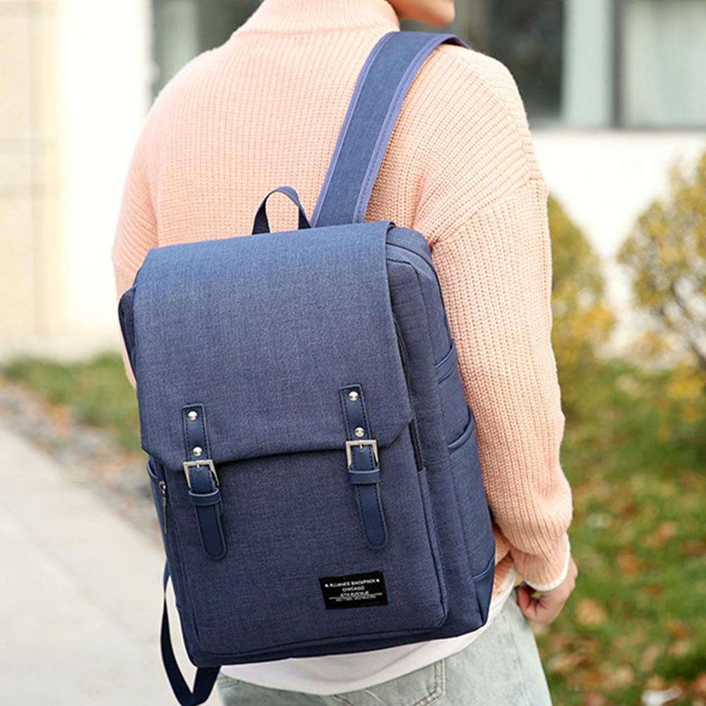 Litthing School Laptop Backpack British Style Daypacks Waterproof Oxford Shoulder Bags For Men Women Travel Sport Rucksack