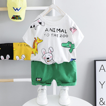 Toddler Boys Baby Girls Cartoon Clothes Animal Outfits Cotton Infant Children Summer Dress Short-sleeve Costume Kids Outfits
