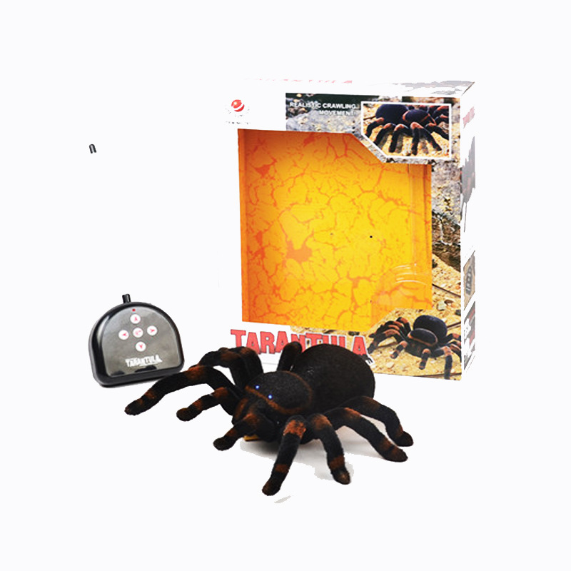 Model Remote Control Spider Four-Channel Tarantula Strange New Electronic Pet Electric CHILDREN'S Toy Whole Person Spoof Lights