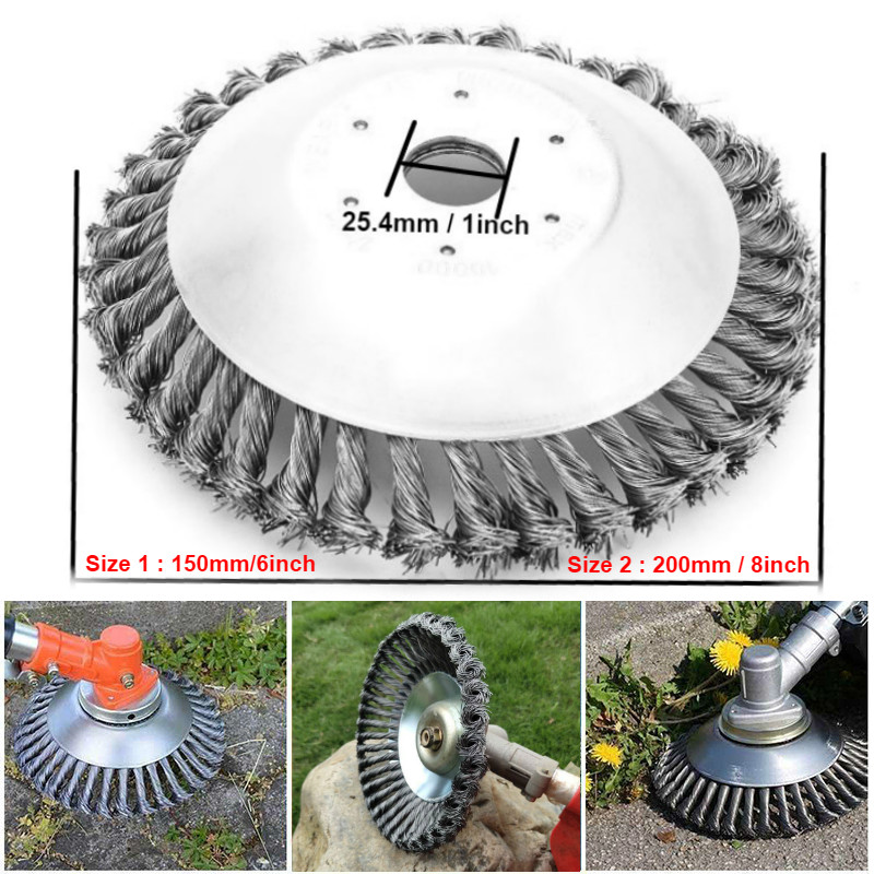 6/8inch Carbon Steel Wire Break-Proof Rounded Edge Weed Trimmer Edge Head Power Lawn Mower Garden Weed Brush Lawn Mower(China)