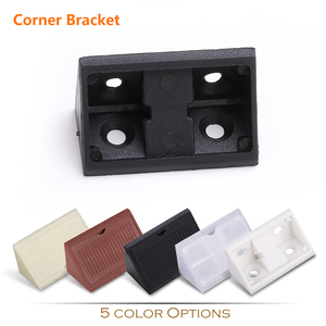 white black brown translucent yellow color options plastic corner bracket with cover