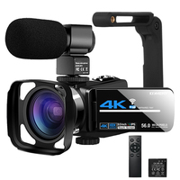 Cámara de vídeo de YouTube para Vlogging, Webcam de visión nocturna IR, UHD, 4K, 48MP, 16X, Digital