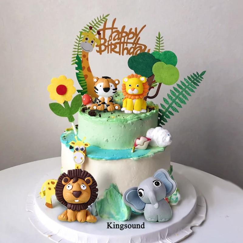 Enjoyable Giraffe Elephant Lion Tiger Animal Birthday T Baby Kids Funny Birthday Cards Online Alyptdamsfinfo
