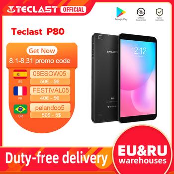 Najnowszy Tablet Teclast P80 8 #8222 Android 10 2GB RAM 32GB ROM Allwinner A133 1280 #215 800 IPS czterordzeniowy podwójny Wifi Bluetooth 5 0 tablety tanie i dobre opinie Android 10 0 CN (pochodzenie) Z dwiema kamerami Gniazdo słuchawkowe Karty tf TYPE-C english Rosyjski Spanish SZWEDZKIE