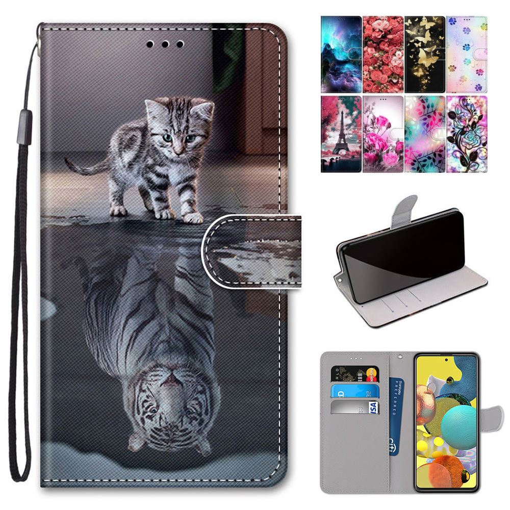 Cat Wolf Magnet Stand Cover For Alcatel 3L 3X 1A 1B 1S 2020 3V 1V 1C 2019 Dog Lion Tiger Flip Phone Case Card Slot Coque D08F(China)