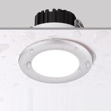 Светодиодный светильник с регулируемой яркостью 6 Вт водонепроницаемый теплый белый холодный белый Естественный белый утопленный Светодиодный точечный светильник AC110 220V