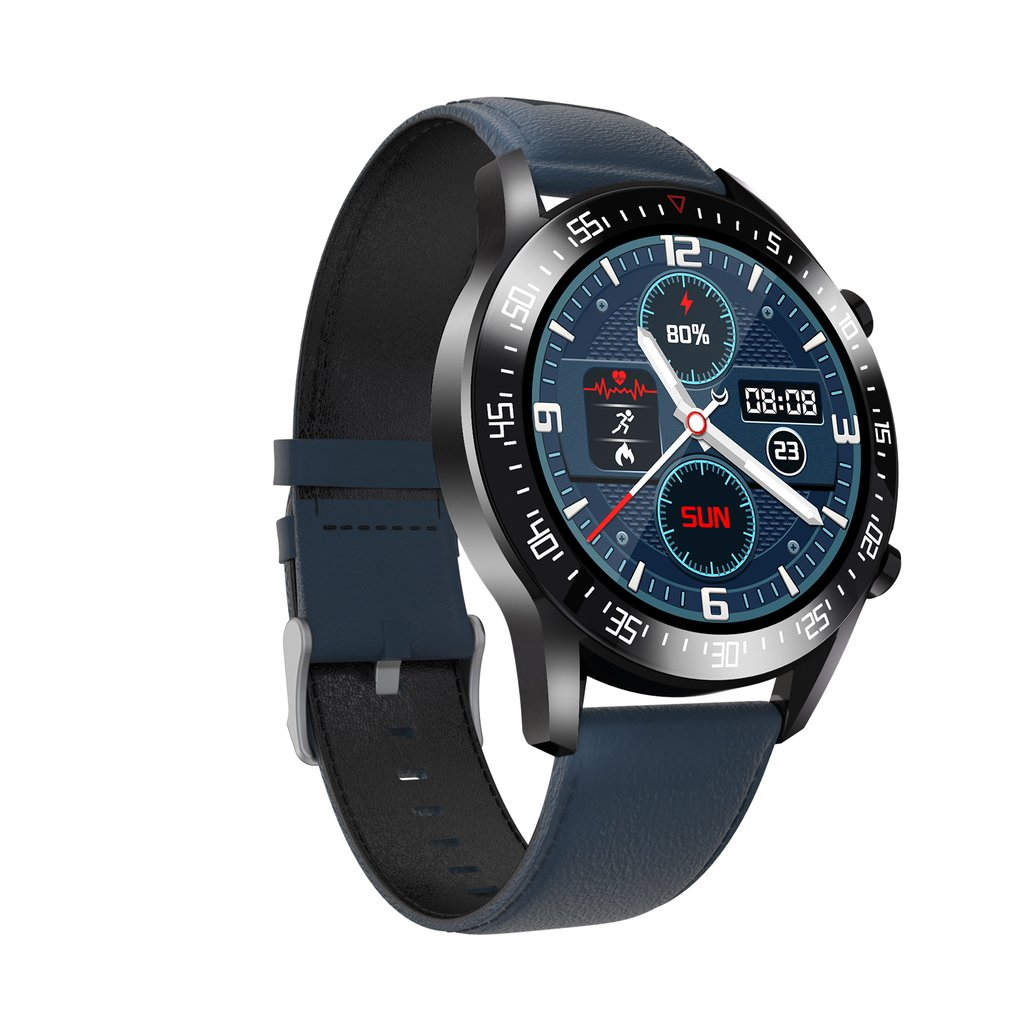 Hed9b9d12cb304a6f858d64f534f2b7918 C2 Smart Watch Round Dial Men Smartwatch Full Touch Screen Heart Rate Monitoring IP68 Waterproof Fitness Sports Watch