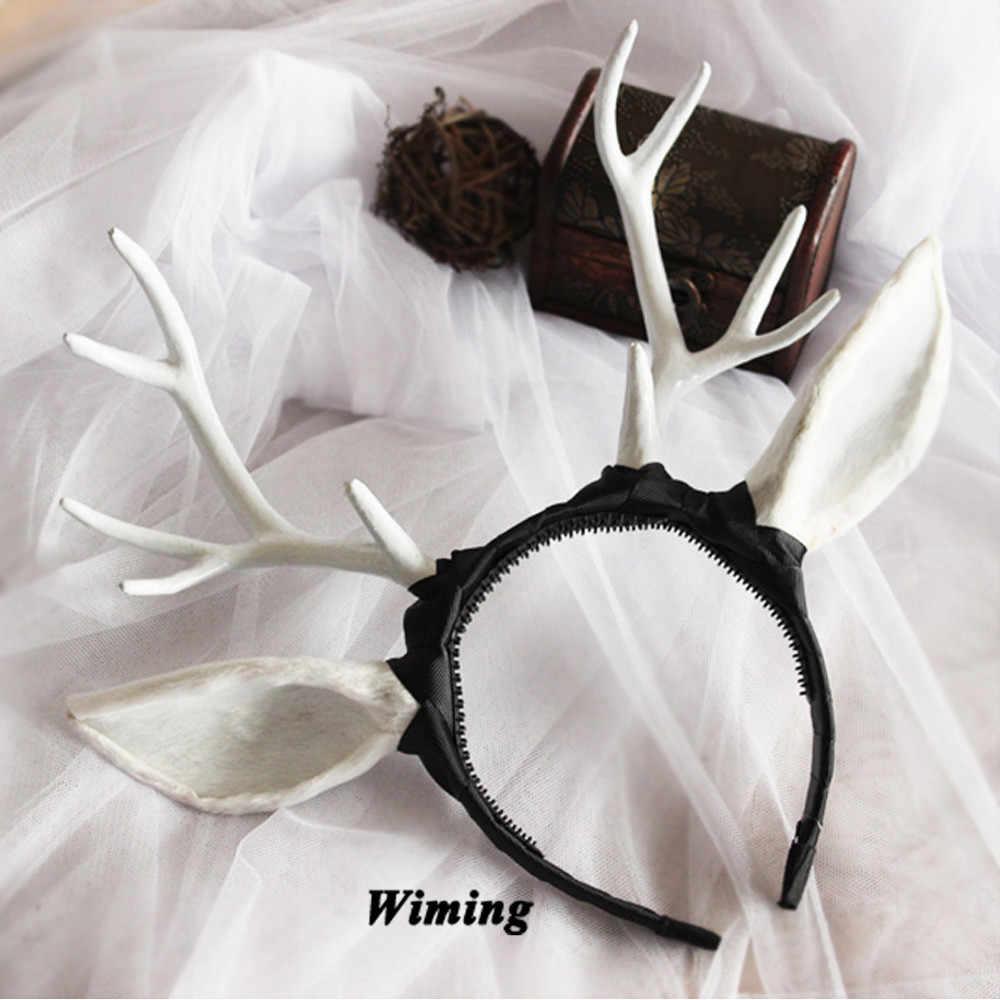 Brown EXCEART Christmas Headband Reindeer Antler Headdress Headpiece Hair Hoop for Costume Party Banquet