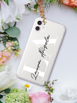 Custom Name DIY Letters for iPhone 13 Pro Max Case 12 8 Plus SE 2020 Cover Girls Silicone Funda For iPhone 11 Pro Case X XS XR 7 2