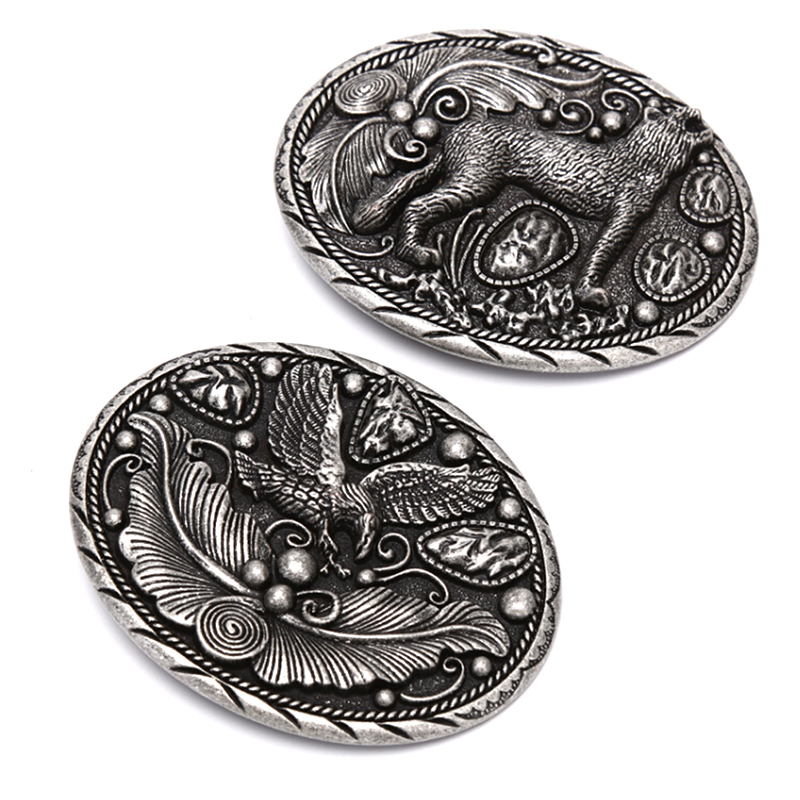 Wolf Metal Cool Belt Buckles For Man Unisex Western Fashion Buckle Cowboys Cowgirls Paracord Buckle Dropshipping