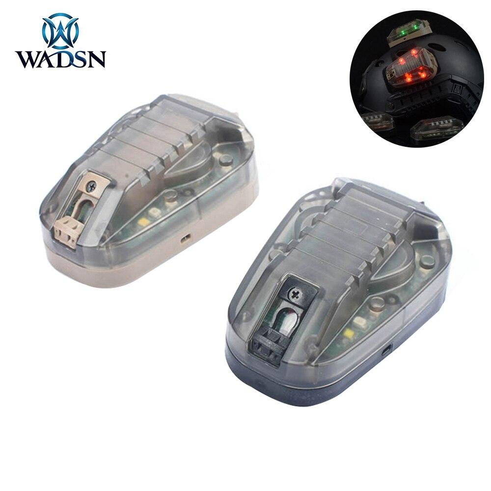 WADSN Airsoft Sport casque lampe de poche HEL STAR 6 GEN 3 Signal vert rouge IR lampe stroboscopique étanche militaire survie casque lumière