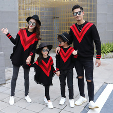 Autumn and winter mommy and me christmas sweaters family daddy daughter shirts and daughter clothes father son matching outfits my daddy and me