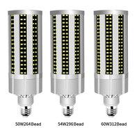 High Power Super Bright Corn LED Light Bulb E27 6500K Daylight 5400 Lumens for Large Area Commercial Ceiling Lighting Road Bulb