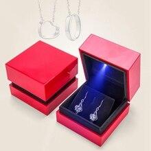 Elegant Square LED Earring Pendant Organizer Box Jewellery Storage Case The Best
