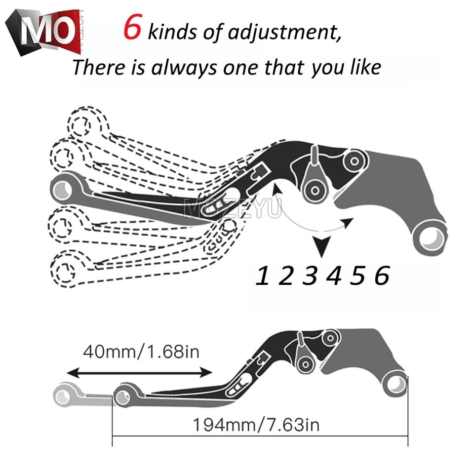 Auzkong Folding Extendable Adjustable CNC Brake Clutch Levers for H0NDA XL1000 Varadero//XL1000 ABS 1999-2013 Black