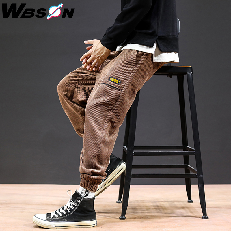 Wbson Corduroy Pants Men's Jogging Pants Streetwear Pants Men's Casual Pants Men's Pants Harem Pants JKDW9988A
