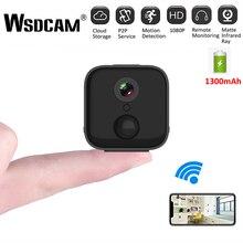 كاميرا مراقبة صغيرة WiFi HD A21 ، كاميرا IP لاسلكية مع رؤية ليلية ، CCTV ، كشف الحركة ، مراقبة الطفل ، DVR ، 1080P