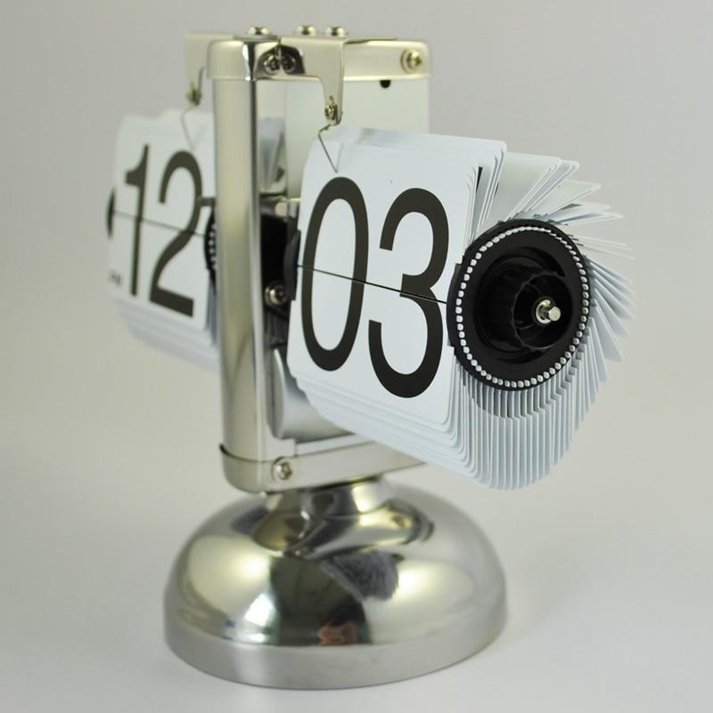 SODIAL(R) Ретро флип вниз часы-Внутренняя передача управляется-белый+ кабельная стяжка