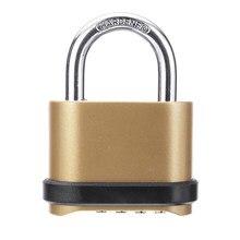 Segurança à prova de intempéries quatro dígitos código senha combinação liga de zinco cadeado cadeado acessórios de ferragem