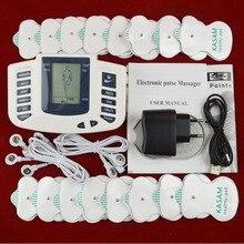 Tlinna Novo Cuidado Saudável Dezenas de Corpo Inteiro Acupuntura Terapia Elétrica Massageador Aparelho de Fisioterapia Meridiano Massageador Massageador