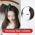 AOSI короткие шелковые прямые человеческие волосы Топпер черные коричневые U-образные 4 клипсы наращивание волос шиньон парики для женщин дев...