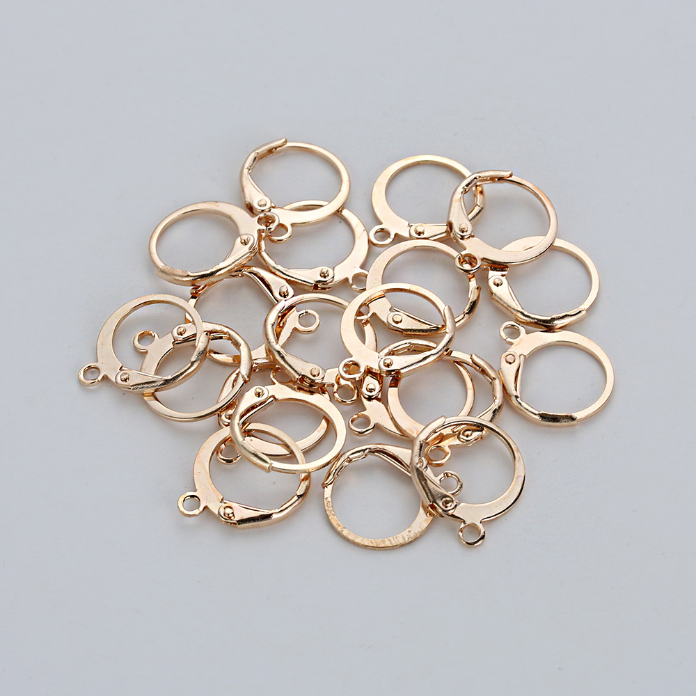 20pcs/lot 15*12mm Silver Gold Bronze French Lever Earring Hooks Wire Settings Base Hoops Earrings For DIY Jewelry Making Supplie