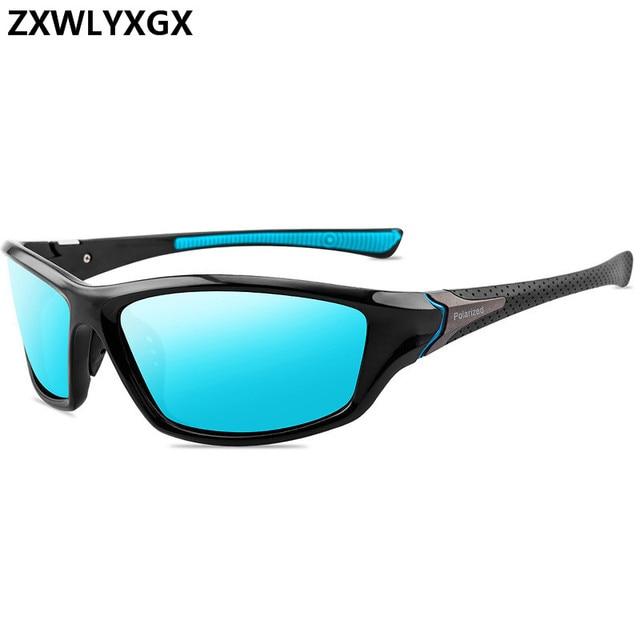 Blue frame lens polarized sunglasses for men