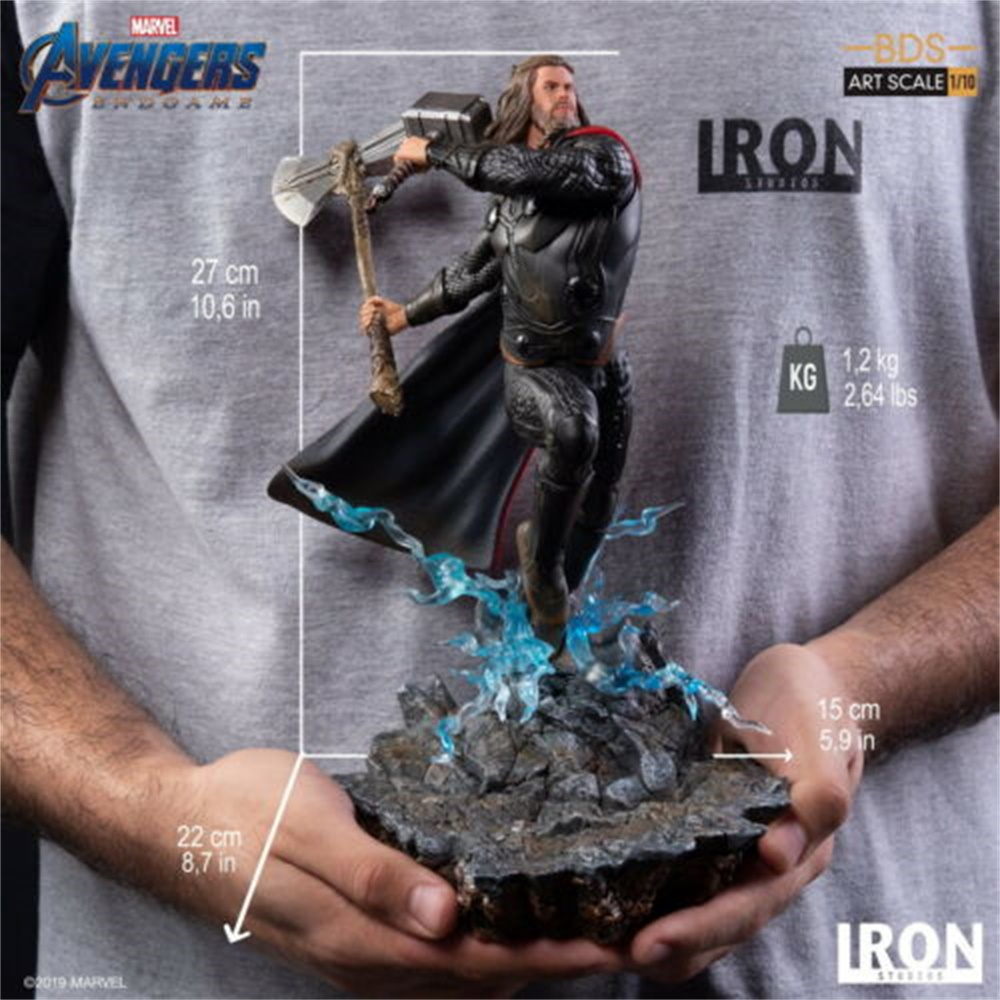 Iron Studios 1:10 Thor Statue Stormbreaker & Hammer The Avengers End Game Figure