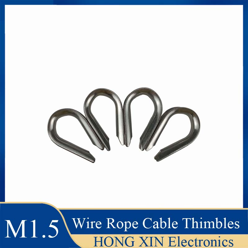 M1.5 Wire Rope Cable Thimbles 304Stainless Steel Non-rusting And Anti-corrosion Wire Rope Ring