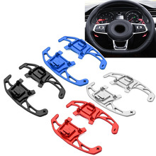 цена на For VW GOLF GTI 7 R GTD GTE MK7 POLO 6C GTI Passat B8 R-line Scirocco Metal Car Steering Wheel Paddle Extend Shifter Replacement