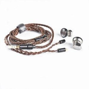 Image 4 - Yincrow RW 1000 3.5mm Earbud HIFI מתכת CNC אוזניות 15mm דינמי להסרה MMCX כבל X6 PT25 TO600 KP120 TP16 TO400