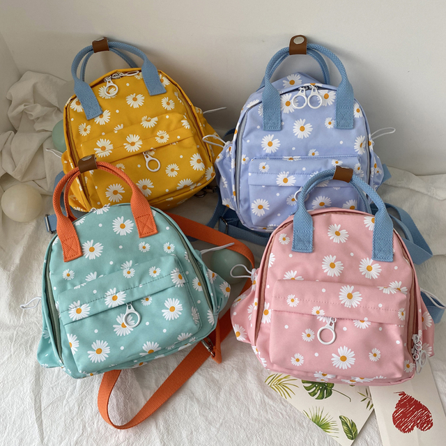 Children's Daisy Print Cute Backpacks Girls Small School Bags Outing Lightweight Mini Backpacks Small Kids Multifunction Bagpack