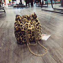 Women Leopard Print Shoulder Bag Fashion Tote Womens Faux Fur Leather Crossbody For Teenage Girls