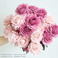 1 Artificial Rose Bouquet Decorative Silk Flowers Bride Bouquets for Wedding Home Party Decoration Wedding Supplies